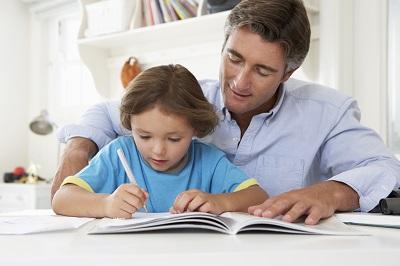 dad doing homework