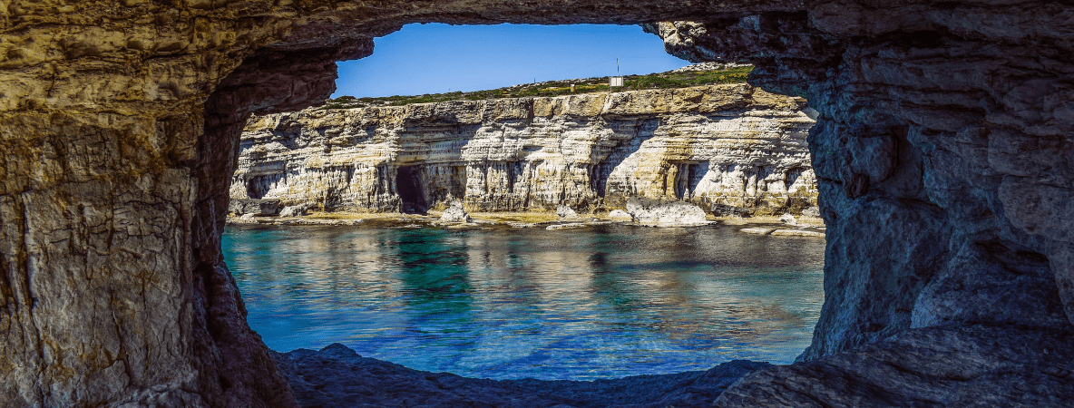 Cape Greko sea caves in Cyprus