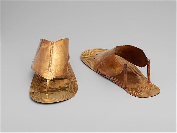 Ancient Egypt golden Sandals