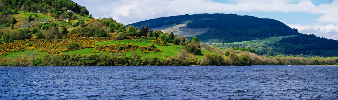 View from Lock Ness, Scotland