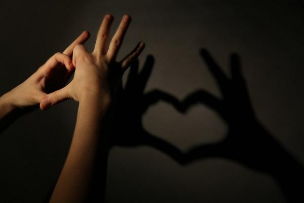heart shaddow