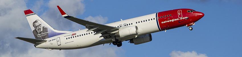 Passenger numbers up for Norwegian