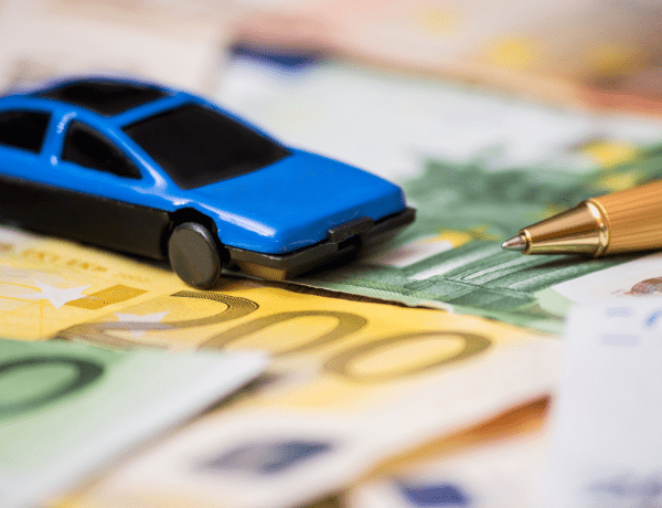 car with euros cash