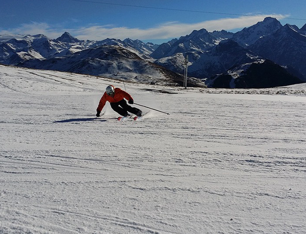 Alps snow is good news for half-term skiers
