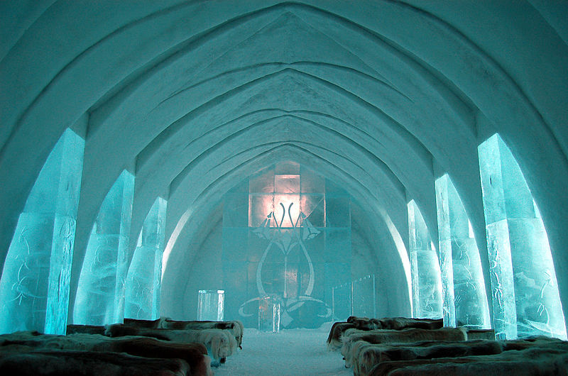 New Ice Hotel made of snowballs opens in Sweden