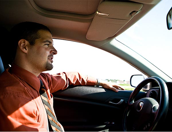 Business drivers struggle with directions whilst on the road