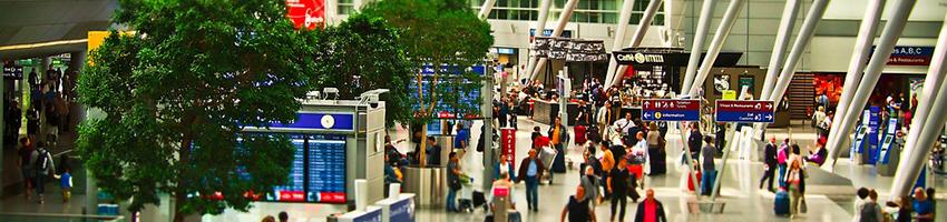 British holidaymakers walk fourteen marathons in airports