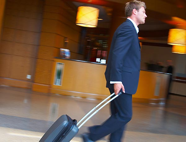 Business travellers carry four different types of technology