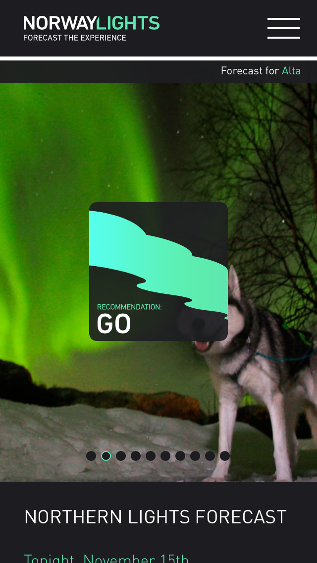 Want to get the best glimpse of the Northern Lights. Visit's Norway's free app could